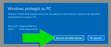 Sample Internet Explorer and Edge confirmation screen
